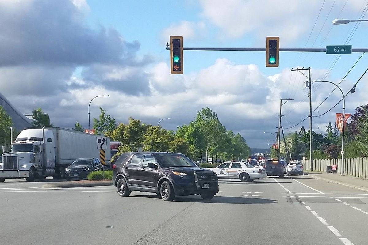 Portion of 176th Street closed after vehicle crashes into ...