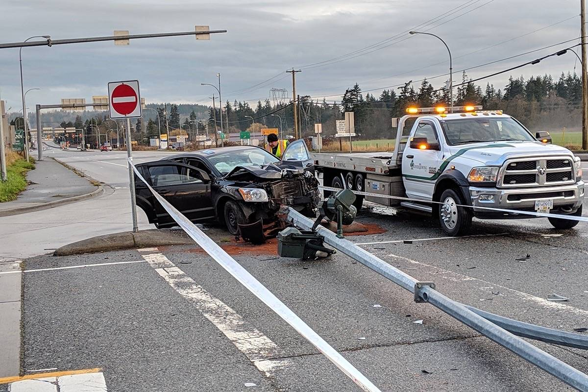 Accident In Surrey Today >> Hit And Run Crash Near South Surrey Border Peace Arch News
